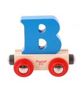 Houten lettertrein | Letter B | Bigjigs
