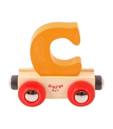 Houten lettertrein | letter C | Bigjigs