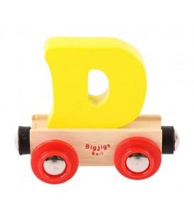 Houten lettertrein | letter D | Bigjigs
