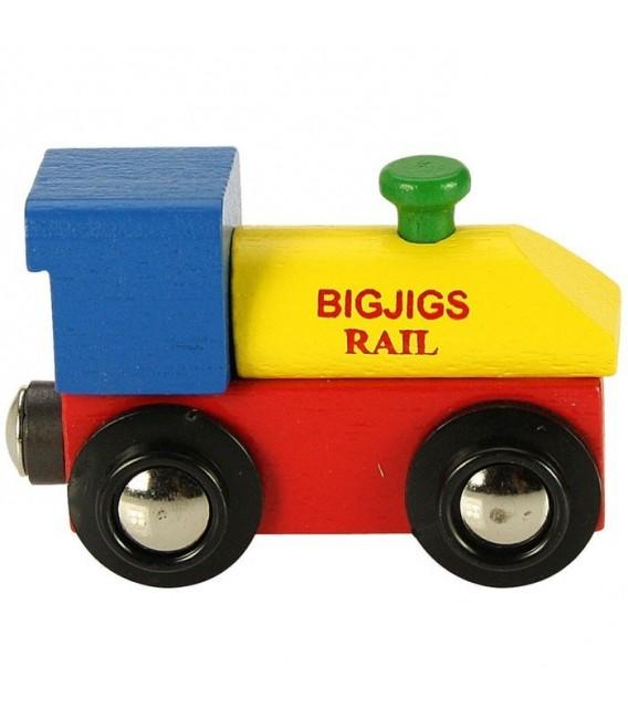 Houten lettertrein   Locomotief   Bigjigs