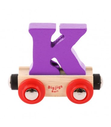 Houten lettertrein | Letter K | Bigjigs