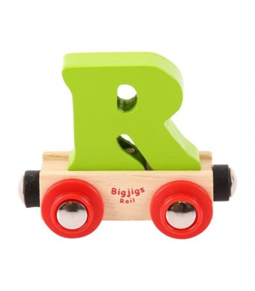 Houten lettertrein | Letter R | Bigjigs