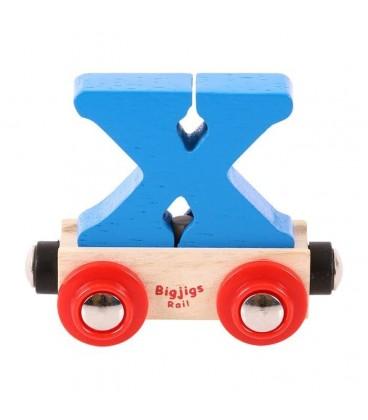 Houten lettertrein | Letter X | Bigjigs | foto 1