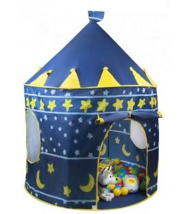 Speeltent kasteel | kleur blauw |met opbergtas