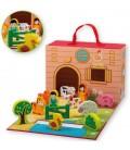 Speelgoed Boerderij | 13-delig set in koffer | Merk: Jouéco