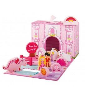 Speelgoed Prinsessenkasteel | 13-delig set in koffer | Merk: Jouéco