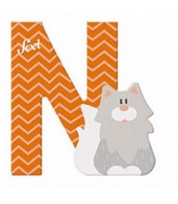 Sevi houten dieren letter N