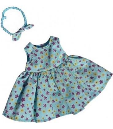 Poppen Jurk Turquoise | Mini Mommy | 38-41 cm