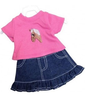 Poppen Rok met Shirt | Mini Mommy | 29-32cm