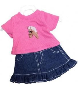 Poppen Rok met Shirt | Mini Mommy | 29-32cm