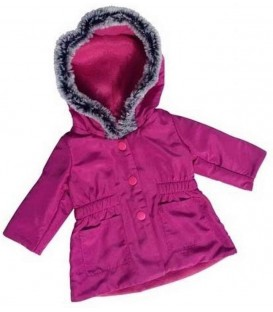 Poppen Winterjas Bordeaux | Mini Mommy | 29-32 cm