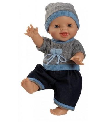 Paola Reina Pop Gordi jongen | lachend | gekleed 34cm