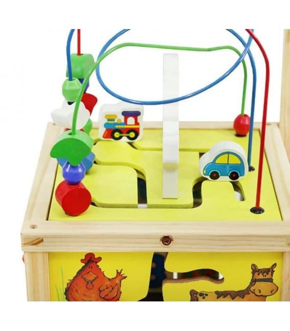 Houten Loopwagen met activiteiten kubus foto 3