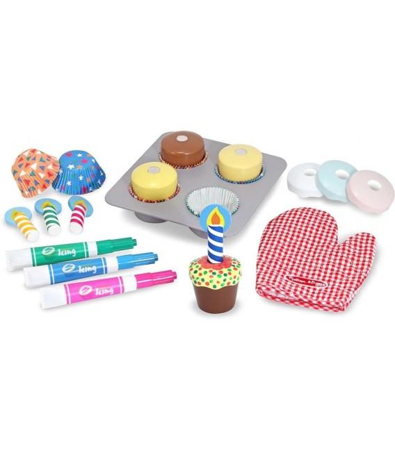 Melissa & Doug Houten Eten Speelset Cupcakes Maken