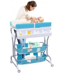 Commode en babybad combinatie in 1 | blauw | foto 1