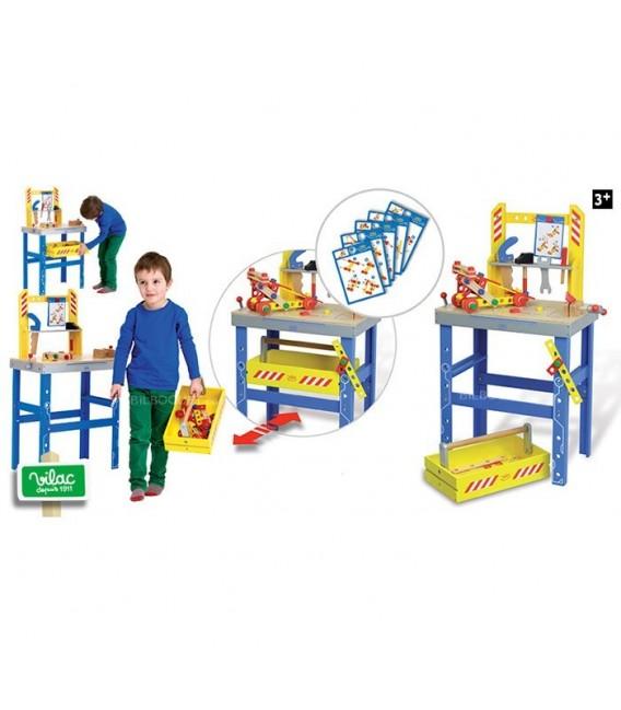 Houten speelgoed werkbank Vilac
