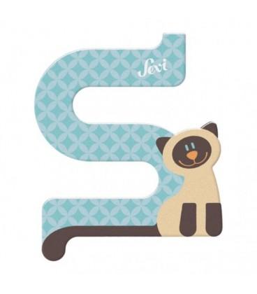 Sevi houten dieren letter S
