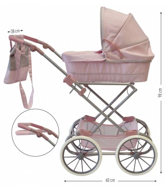 BYASTRUP Poppenwagen Deluxe | kleur Roze | Gratis Verzending!