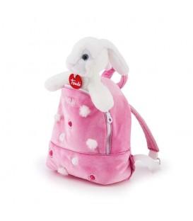 Knuffel konijn in rugzak | Zachte knuffel | Trudi