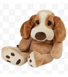 knuffelhond Droopy | 28 cm | Liggend met grote ogen