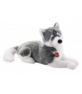 Knuffelhond Husky Marcus 60 cm | Liggende knuffel | Merk Trudi
