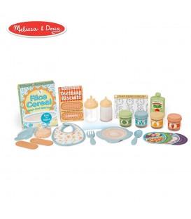 Poppen voedingsset | uitbreiding voor de Melissa & Doug verzorginstafel