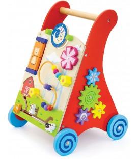 Loopwagen met activiteiten Viga Toys f1