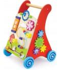 Houten Loopwagen | met activiteiten | rood | Viga Toys