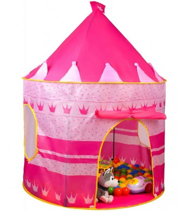 Speeltent kasteel roze foto 2