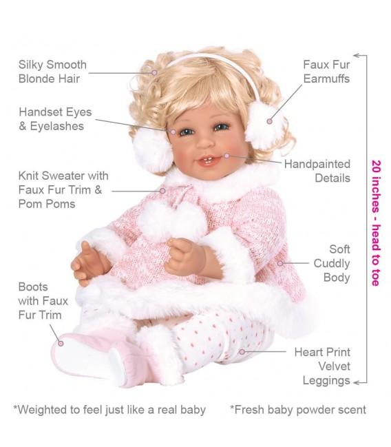 Adora pop Winter Wonder   Levensechte pop   Adora Toddlertime collectie