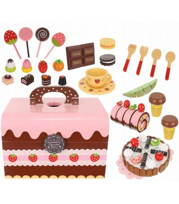 Houten kist met lekkernijen | houten speelgoed snoepbox