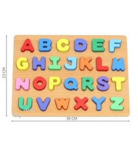 Houten puzzel alfabet 27 delig | ABC puzzel