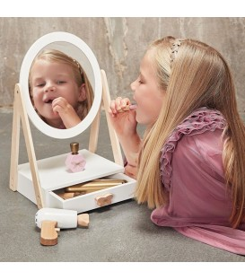 Byastrup houten make-up spiegel met lade