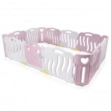 Kunststof grondbox roze/wit