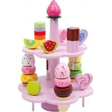 Speelgoed ijsjes op standaard