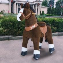 Ponycycle donkerBruin Paard U321 voor kinderen van 3 tot 5 jaar