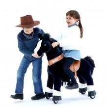 Ponycycle Zwart Paard U426 voor kinderen van 4 tot 9 jaar