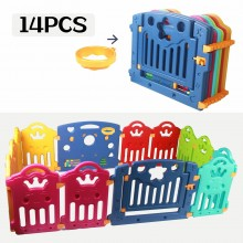 Regenboog grondbox met 14 panelen | Kunststof playpen | Kruipbox | veiligheidshekjes | Afscherming kind | Speelbox