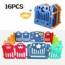 Regenboog grondbox met 16 panelen | Kunststof playpen | Kruipbox | veiligheidshekjes | Afscherming kind | Speelbox