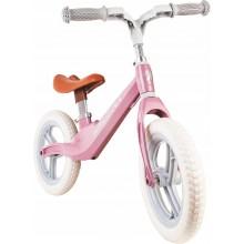 Loopfiets Retro design licht roze | stevige loopfiets met rubbere banden