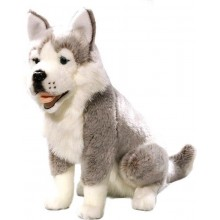 Knuffelhond Husky - zittend - 37 cm hoog - Bicolini