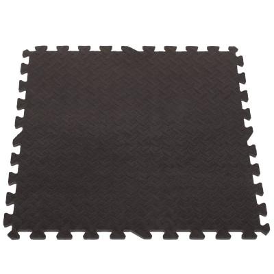 Puzzelmat met 4 Zwarte Tegels - 120 x120 cm - Eva Foam