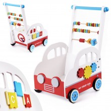 Houten Loopwagen | Model Auto | Met Diverse Activiteiten.