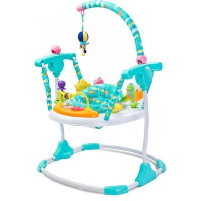 Baby Jumper Ocean Blue   Spring Stoeltje met diverse Speeltjes