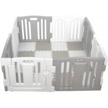 Grondbox van kunststof | Kleur grijs/wit | Inclusief puzzelmat