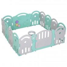 kunststof grondbox met 14 panelen - licht gewicht - Groen Grijs