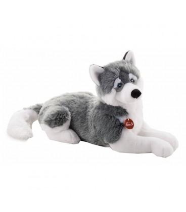 Knuffelhond Husky Marcus 80 cm | Liggende knuffel | Merk Trudi