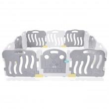 Grote kunststof grondbox grijs/wit | kruipbox | speelbox | playpen